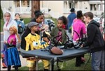 Trick or treat at hill school