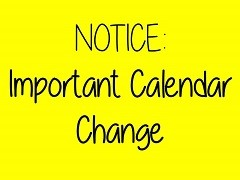 notice calendar change
