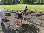 Students plant trees for PSD