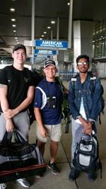 Students at airport