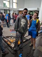 Robotic students Pearce Reagler and Marekeil Johnson