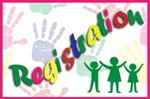 colorful handprints registration