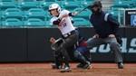 Gianna Epps at bat during softball game
