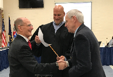 New Board Members Sworn In, Budget Decision Made