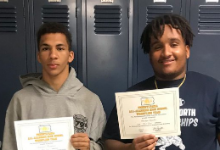 Pottstown High School Wrestlers Demond Thompson and Destyn Snyder