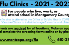 Flu Clinics 2021-22 Schedule