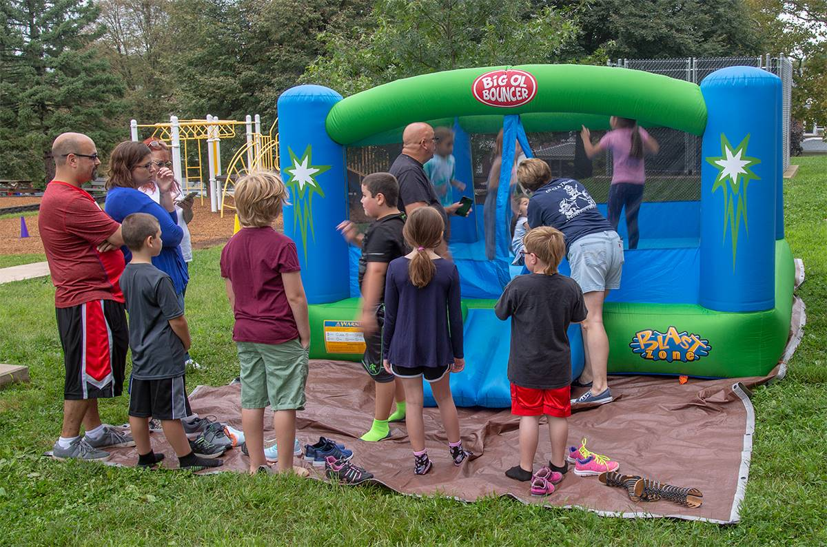 bouncy house at Rupert's 90th