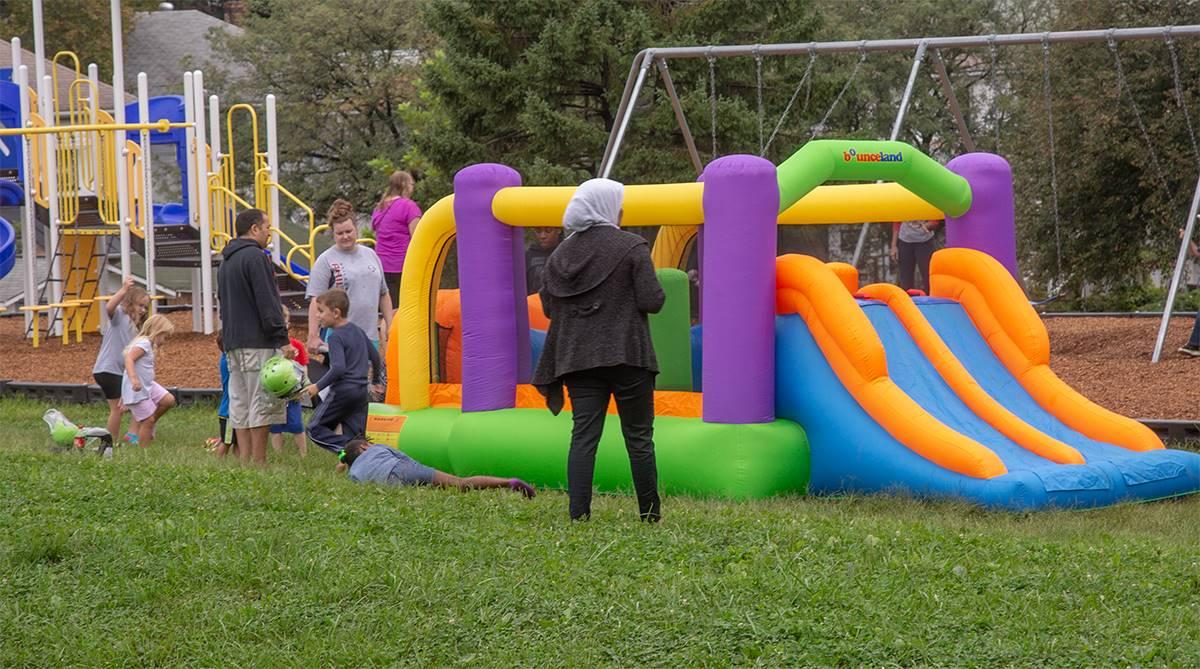 bouncy slide at rupert's 90th