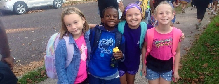 national walk to school day students