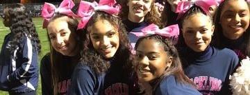 PHS cheerleaders smiling