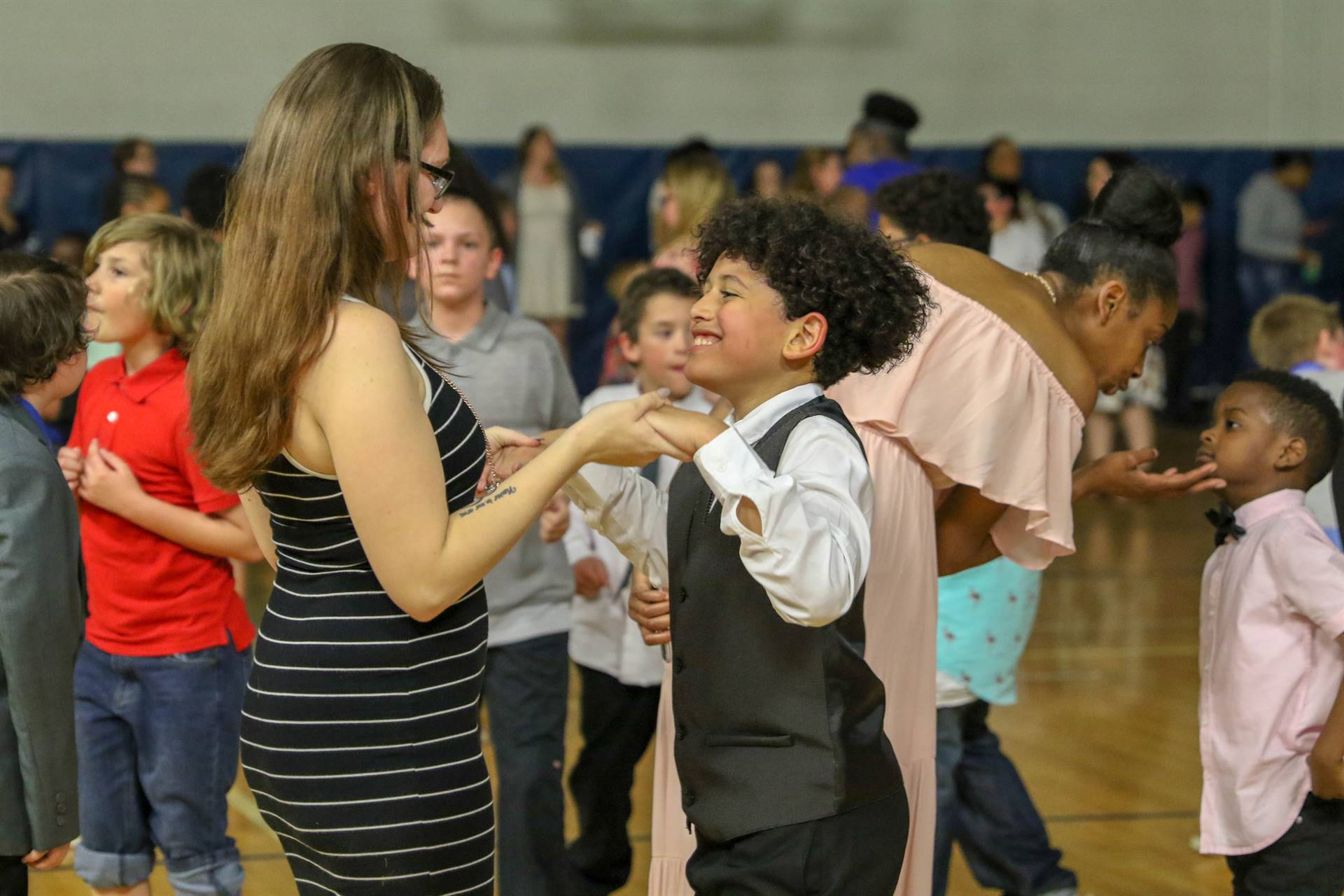 Mother Son Dancing