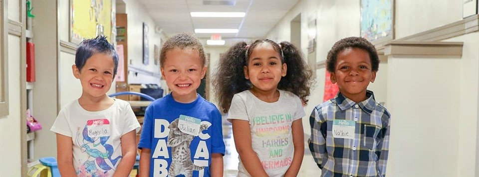 4 elementary students