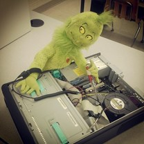 Grinch over computer